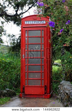 Stock image of The British red phone booth