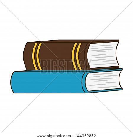 book stack read education knowledge literature library vector illustration