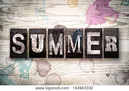 Summer Concept Metal Letterpress Type