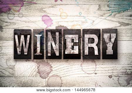 Winery Concept Metal Letterpress Type