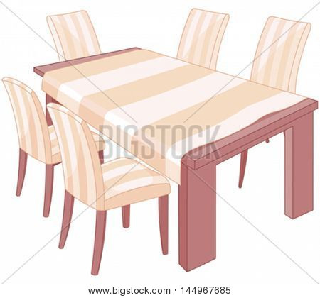 Illustration of a dining table