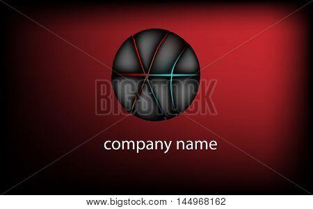 the company logo,dark circle - vector illustration