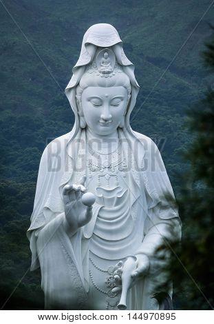 Close up Guanyin statue Hong Kong, Asia