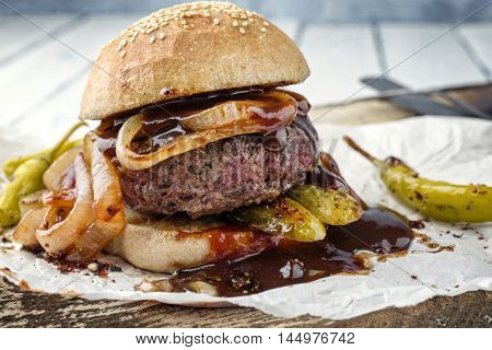how to make hamburger barbecue sauce