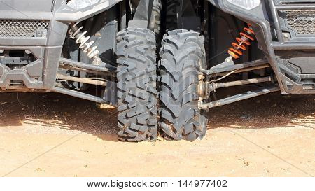 Two buggies. Wheels for off-road riding. United Arab Emirates