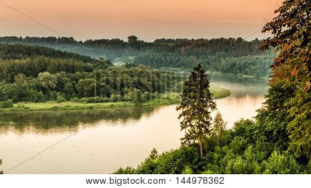 River In The Fog
