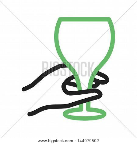 Goblet, glass, wine icon vector image. Can also be used for hand actions. Suitable for use on web apps, mobile apps and print media.