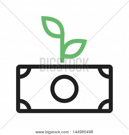 Investment, increase, profit icon vector image. Can also be used for startup. Suitable for use on web apps, mobile apps and print media.