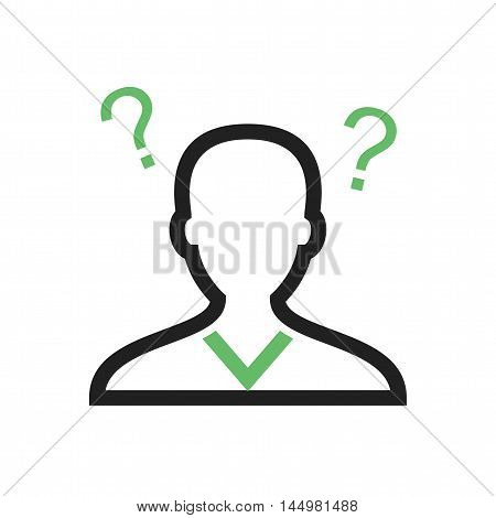 Confused, disturb, confusion icon vector image. Can also be used for startup. Suitable for mobile apps, web apps and print media.