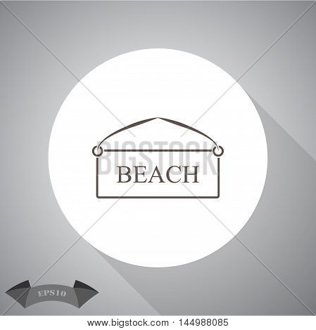 Plate beach  Vector icon for web and mobile.