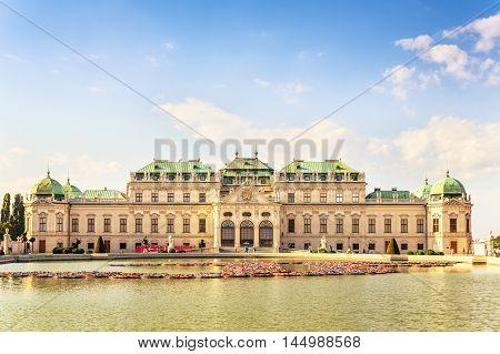 Summer residence of Austrian rulers, Belvedere palace, Vienna, Austria