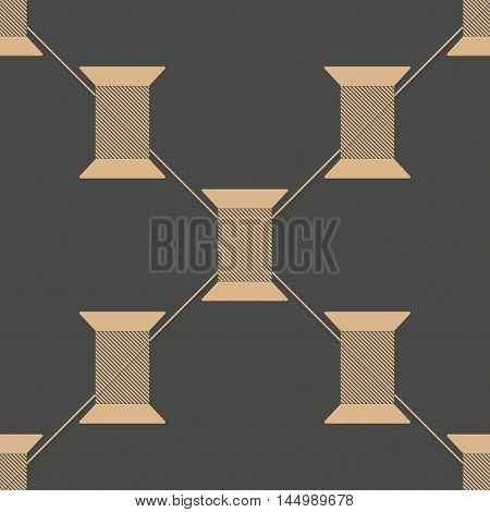 Spool of thread texture seamless pattern.  Illustration