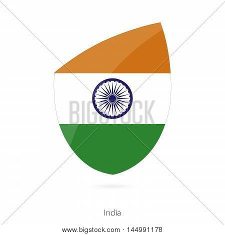 Flag of India in the style of Rugby icon. Vector Illustration.