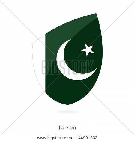 Flag of Pakistan in the style of Rugby icon. Vector Illustration.