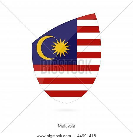 Flag of Malaysia in the style of Rugby icon. Vector Illustration.