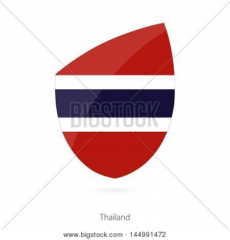 Flag of Thailand in the style of Rugby icon. Vector Illustration.