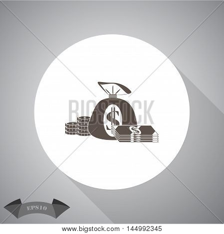 Money  Vector icon for web and mobile.