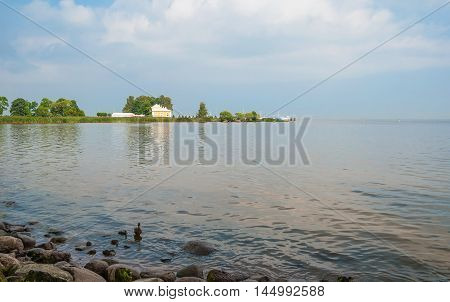 Little house on the shore of the Gulf of Finland