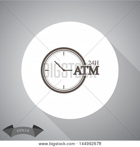 Clock ATM Vector icon for web and mobile.