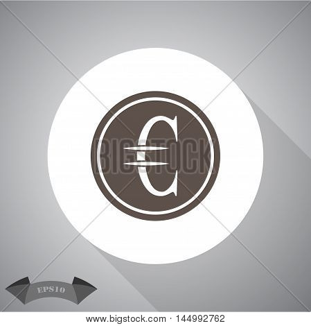 Euro cent  Vector icon for web and mobile.