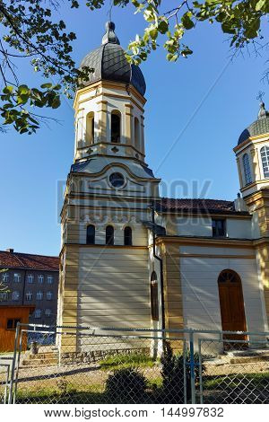 Outside view of The church Virgin Mary in  Dimitrovgrad, Pirot Region, Republic of Serbia