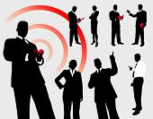 stock photo of person silhouette  - Business People Silhouette Collection Original Illustration - JPG