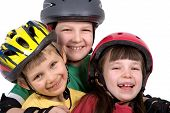 Children In Safety Gear