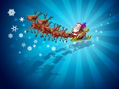 picture of santa-claus  - Santa Claus on a sledge - JPG