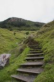 foto of atonement  - Steps up Mount Maunganui  - JPG