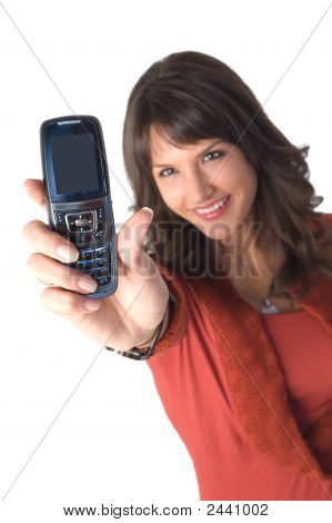 Girl With Mobile Phone