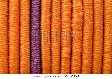 One Lilac And Many Orange Elastics
