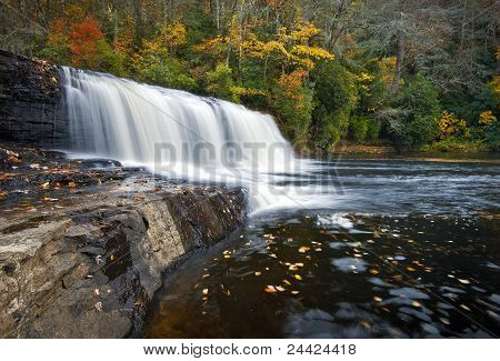 Hooker Falls Autumn Waterfalls Dupont State Park Forest Fall Foliage