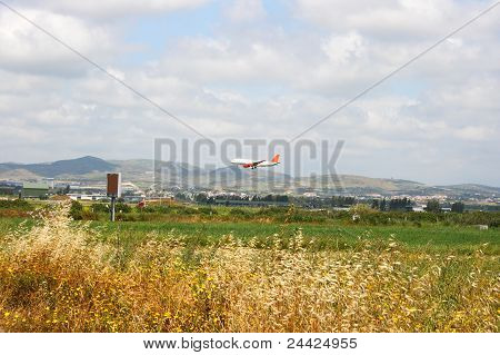 Airplane Over Fields