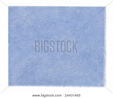 Blue Viscose Kitchen  (tissue), Isolated On White