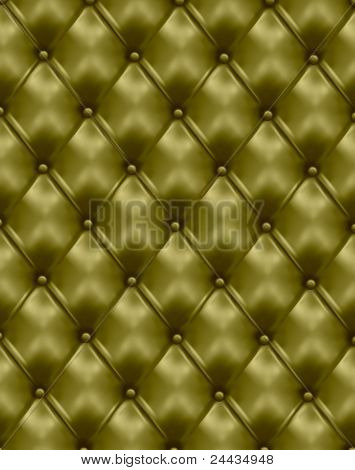 Green leather texture background. Vector illustration.