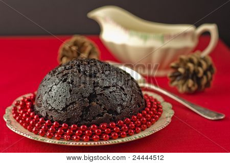 Christmas Pudding With Beads