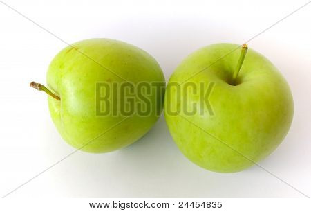 Pair of green apples