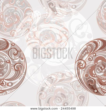 Vector Seamless Abstract Bright Background With Spirals