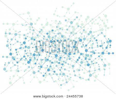 Molecule Connection Background Vector