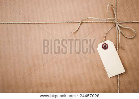 pacote de papel marrom