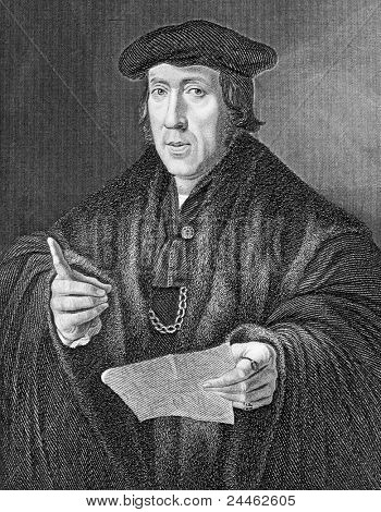 John More (1451-1530). Engraved by E.Scriven and published in Lodge's British Portraits, United Kingdom, 1833.