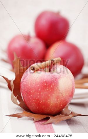 lovely apples with cinnamon - fruits and vegetables ?shallow DOFF/