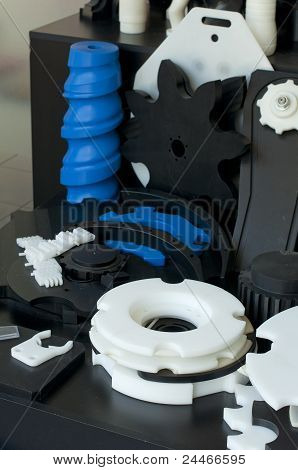 Plastic Machine Parts. Vertical Imagel