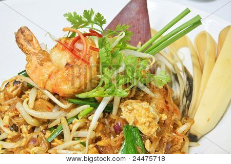 Pad Thai Is Noodles Stir-fried With Shrimp