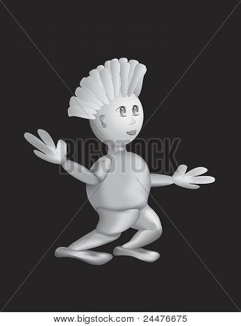 Silver Concept Person