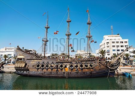 Sailing Ship In The Harbour.