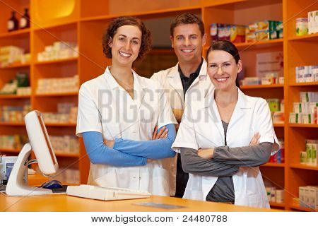 Happy Pharmacy Team