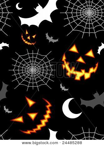 Halloween Terror Background Pattern