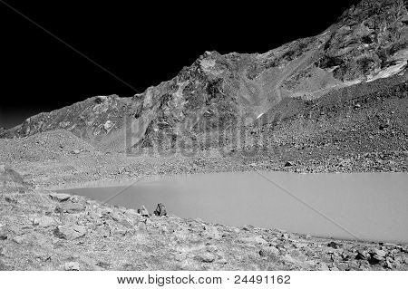 Lake Landscape In Infrared