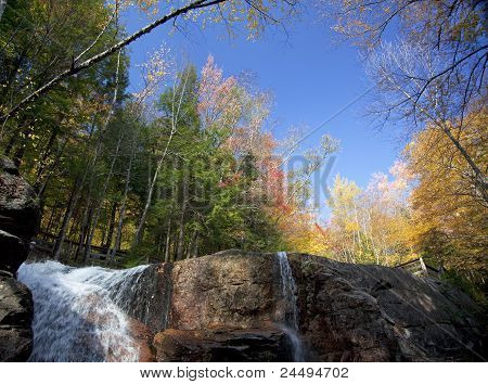 Waterfall At The Flume Gorge, New Hampshire